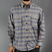 Shirt check grey/blue