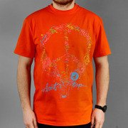 T-shirt  Malita Peace orange