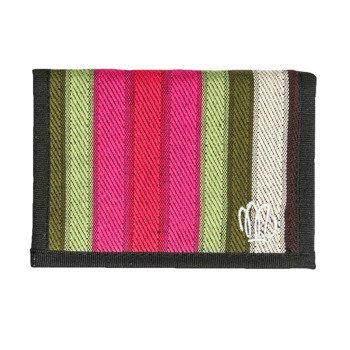 Portfel Malita green/pink stripes